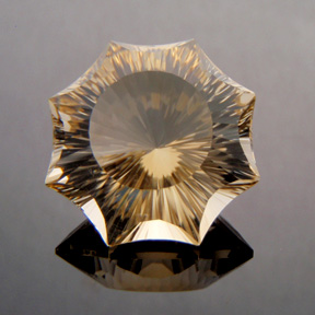 Citrine, Concave Octagon Star, #c29 - Doug Menadue :: Bespoke Gems - Finest quality custom precision gemcutting based in Sydney, Australia