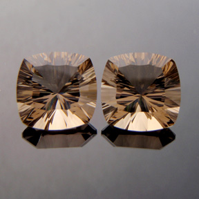 Smokey Quartz, Concave Square Cushion, #c38