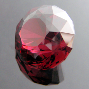 Rhodolite Garnet, Phi Flower Dome, #101 - Doug Menadue :: Bespoke Gems - Master gemcutter and lapidary artist specialising in fine custom cut precision gems from a wide range of select facet gem rough. Located in Sydney, Australia.