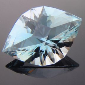 Natural Blue Topaz, Brilliant Marquise, O'Briens Creek, Mt Surprise, Australia, #107