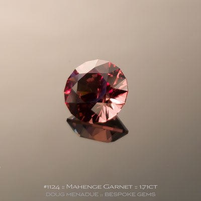 1124, Mahenge Garnet, SG1 Round Brilliant, 1.71 Carats,  7.05x7.05x4.77mm, Dark and Light Green - A beautiful natural Mahenge Garnet from Tanzania - Doug Menadue :: Bespoke Gems :: WWW.BESPOKE-GEMS.COM - Finest Quality Precision Custom Gemcutting and Lapidary Services Based In Sydney Australia