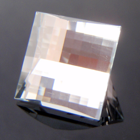Natural Blue Topaz, Mock Check Square, O'Briens Creek, Mt Surprise, Australia, #116