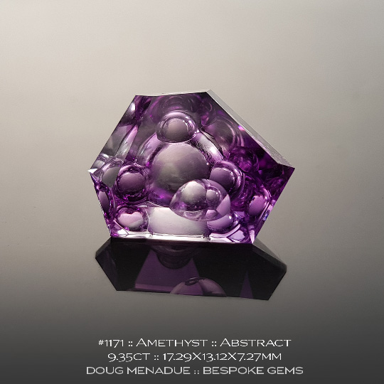 1171, Amethyst Purple, Abstract, 9.35 Carats, 17.29X13.12X7.27mm - A beautiful natural Amethyst from the gemfields around Brazil - Doug Menadue :: Bespoke Gems :: WWW.BESPOKE-GEMS.COM - Finest Quality Precision Custom Gemcutting and Lapidary Services Based In Sydney Australia