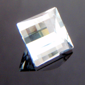 Natural Blue Topaz, Mock Check Square, O'Briens Creek, Mt Surprise, Australia, #118 - Doug Menadue :: Bespoke Gems - Master gemcutter and lapidary artist specialising in fine custom cut precision gems from a wide range of select facet gem rough. Located in Sydney, Australia.