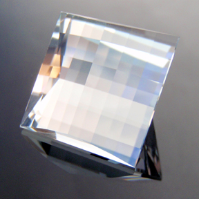 Natural Blue Topaz, Mock Check Square, O'Briens Creek, Mt Surprise, Australia, #119