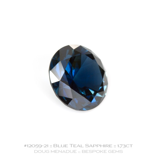 #12059-21, Australian Sapphire, Round Brilliant, 1.73 Carats, 7.31X7.31X4.40mm, Blue - A beautiful natural Australian Sapphire from the gemfields around Rubyvale, Central Queensland, Australia - Doug Menadue :: Bespoke Gems :: WWW.BESPOKE-GEMS.COM - Finest Quality Precision Custom Gemcutting and Lapidary Services Based In Sydney Australia