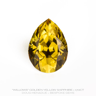Golden Yellow Sapphire, Pear, Willows, Rubyvale, Central Queensland, Australia, 1.70 Carats, 8.4X6.1X4.81mm, #12112-20, A beautiful natural Golden Yellow Sapphire from the Australian sapphire gemfields. Doug Menadue :: Bespoke Gems :: WWW.BESPOKE-GEMS.COM - Finest Precision Custom Gemcutting Based In Sydney Australia