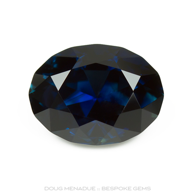 Blue Sapphire, Oval, Scrub Lead, Rubyvale, Central Queensland, Australia, 5.15 Carats, 11.7X8.9X6.63mm, #12112-3, A beautiful natural Blue Sapphire from the Australian sapphire gemfields. Doug Menadue :: Bespoke Gems :: WWW.BESPOKE-GEMS.COM - Finest Precision Custom Gemcutting Based In Sydney Australia