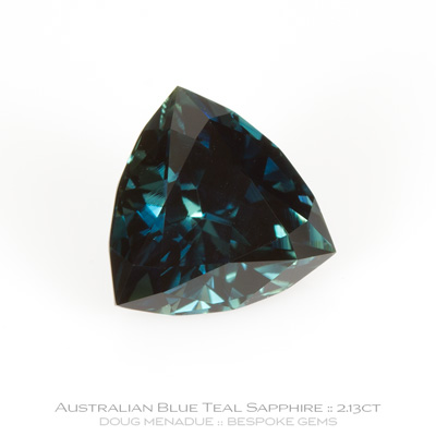 #12147-8, Australian Sapphire, Trillion, 2.13 Carats, 7.94X7.92X4.91mm, Blue - A beautiful natural Australian Sapphire from the gemfields around Rubyvale, Central Queensland, Australia - Doug Menadue :: Bespoke Gems :: WWW.BESPOKE-GEMS.COM - Finest Quality Precision Custom Gemcutting and Lapidary Services Based In Sydney Australia