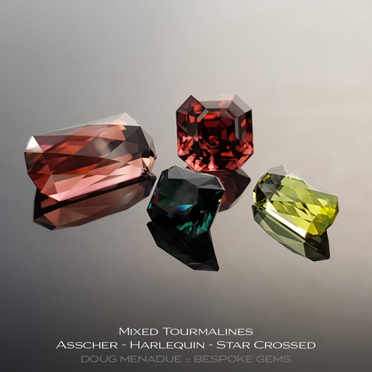 #1242, A suite of beautiful mixed tourmalines - Doug Menadue :: Bespoke Gems - WWW.BESPOKE-GEMS.COM - Precision Gemcutting and Lapidary Services In Sydney Australia