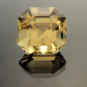 Yellow Beryl, Egyptian Asscher Cut, #136 - Doug Menadue :: Bespoke Gems - Master gemcutter and lapidary artist specialising in fine custom cut precision gems from a wide range of select facet gem rough. Located in Sydney, Australia.
