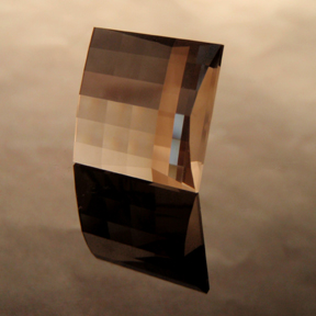 Smokey Quartz, Mock Check Square, #137 - Doug Menadue :: Bespoke Gems - Master gemcutter and lapidary artist specialising in fine custom cut precision gems from a wide range of select facet gem rough. Located in Sydney, Australia.