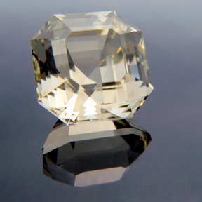 Asscher Cut Citrine, Asscher Cut, #138 - Doug Menadue :: Bespoke Gems - Master gemcutter and lapidary artist specialising in fine custom cut precision gems from a wide range of select facet gem rough. Located in Sydney, Australia.