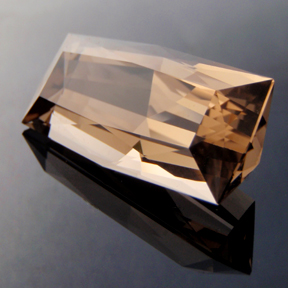 Smokey Quartz, Weimar The Second, #143 - Doug Menadue :: Bespoke Gems - Master gemcutter and lapidary artist specialising in fine custom cut precision gems from a wide range of select facet gem rough. Located in Sydney, Australia.