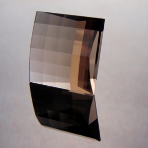 Smokey Quartz, Mock Check Square, #146 - Doug Menadue :: Bespoke Gems - Master gemcutter and lapidary artist specialising in fine custom cut precision gems from a wide range of select facet gem rough. Located in Sydney, Australia.