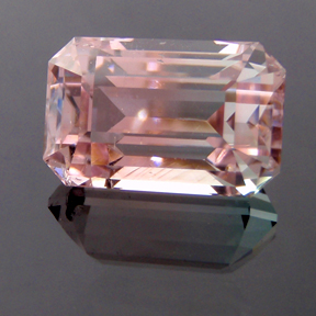 Tri-Coloured Tourmaline, Afghanistan, Classic Emerald Cut, #156