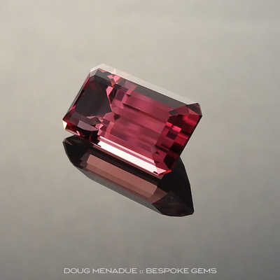 Pink Tourmaline, Emerald Cut, #160522 - Doug Menadue :: Bespoke Gems - Finest quality custom precision gemcutting based in Sydney, Australia