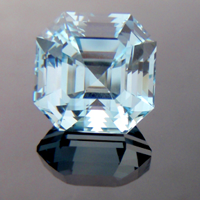 Natural Blue Topaz, Egyptian Asscher, #166