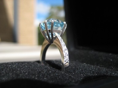 Natural Blue Topaz, #166