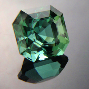 Asscher Cut Tourmaline, Afghanistan, Asscher Cut, #167 - Doug Menadue :: Bespoke Gems - Master gemcutter and lapidary artist specialising in fine custom cut precision gems from a wide range of select facet gem rough. Located in Sydney, Australia.