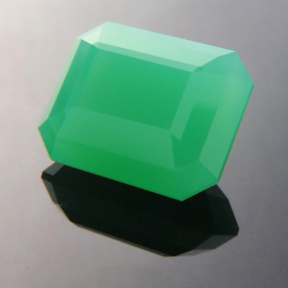 Chrysoprase, Emerald Step Cut, #170