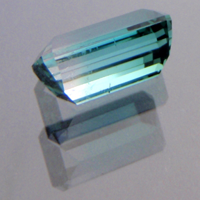 Bi-Colour Indicolite Tourmaline, Afghanistan, Emerald Cut, #181 - Doug Menadue :: Bespoke Gems - Master gemcutter and lapidary artist specialising in fine custom cut precision gems from a wide range of select facet gem rough. Located in Sydney, Australia.