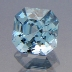 Natural Blue Topaz, Asscher, Brazil, #186