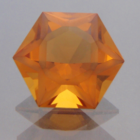 Citrine, Frosted Hexagram, #188