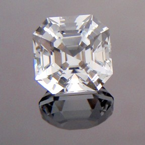 Asscher Cut Topaz, Asscher Cut, O'Briens Creek, Mt Surprise, Australia, #216 - Doug Menadue :: Bespoke Gems - Master gemcutter and lapidary artist specialising in fine custom cut precision gems from a wide range of select facet gem rough. Located in Sydney, Australia.