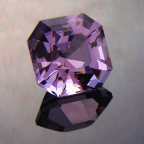 Amethyst Uruguay, Asscher Cut, #219 - Doug Menadue :: Bespoke Gems - Master gemcutter and lapidary artist specialising in fine custom cut precision gems from a wide range of select facet gem rough. Located in Sydney, Australia.