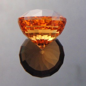 Fanta Orange Spessartite Garnet, Acorn, #220
