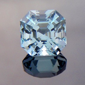 Natural Blue Topaz, Asscher Cut, O'Briens Creek, North Queensland, Australia, #222