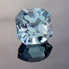 Natural Blue Topaz, Asscher Cut, Brazil, #222