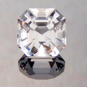 Asscher Cut Topaz, Asscher Cut, O'Briens Creek, Mt Surprise, Australia, #228 - Doug Menadue :: Bespoke Gems - Master gemcutter and lapidary artist specialising in fine custom cut precision gems from a wide range of select facet gem rough. Located in Sydney, Australia.