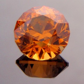 Fanta Orange Spessartite Garnet, Round Brilliant, #230
