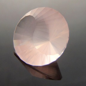 Rose Quartz, Yin-Yang, #241 - Doug Menadue :: Bespoke Gems - Master gemcutter and lapidary artist specialising in fine custom cut precision gems from a wide range of select facet gem rough. Located in Sydney, Australia.