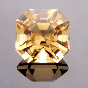 Asscher Cut Yellow Beryl, Asscher Cut, #261 - Doug Menadue :: Bespoke Gems - Master gemcutter and lapidary artist specialising in fine custom cut precision gems from a wide range of select facet gem rough. Located in Sydney, Australia.