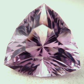 Rose de France Amethyst, Glass Triangle, #28 - Doug Menadue :: Bespoke Gems - Master gemcutter and lapidary artist specialising in fine custom cut precision gems from a wide range of select facet gem rough. Located in Sydney, Australia.