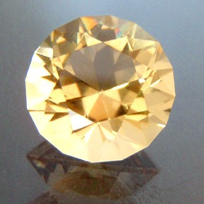Citrine, Round Brilliant, #29 - Doug Menadue :: Bespoke Gems - Finest quality custom precision gemcutting based in Sydney, Australia