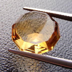 Citrine, Pentagram Pendant, #295 - Doug Menadue :: Bespoke Gems - Master gemcutter and lapidary artist specialising in fine custom cut precision gems from a wide range of select facet gem rough. Located in Sydney, Australia.