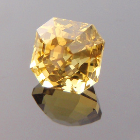 Asscher Cut Chrysoberyl, Tanzania, Asscher Cut, #299 - Doug Menadue :: Bespoke Gems - Master gemcutter and lapidary artist specialising in fine custom cut precision gems from a wide range of select facet gem rough. Located in Sydney, Australia.