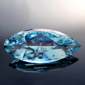 Natural Blue Topaz, Diamond Teardrop, #305 - Doug Menadue :: Bespoke Gems - Master gemcutter and lapidary artist specialising in fine custom cut precision gems from a wide range of select facet gem rough. Located in Sydney, Australia.