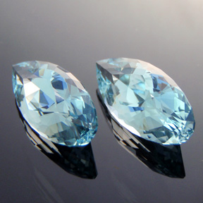 Natural Blue Topaz, Diamond Teardrop, #306