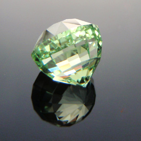 Merelani Mint Green Garnet, Acorn, #312 - Doug Menadue :: Bespoke Gems - Master gemcutter and lapidary artist specialising in fine custom cut precision gems from a wide range of select facet gem rough. Located in Sydney, Australia.