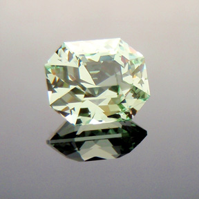Merelani Mint Green Garnet, Radiant Emerald, #314 - Doug Menadue :: Bespoke Gems - Master gemcutter and lapidary artist specialising in fine custom cut precision gems from a wide range of select facet gem rough. Located in Sydney, Australia.