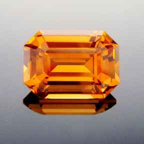 Fanta Orange Mandarin Spessartite Garnet, Emerald Cut, #315