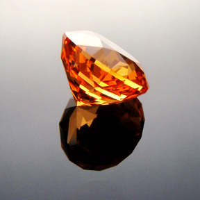 Fanta Orange Mandarin Spessartite Garnet, Antique Round 1910, #316 - Doug Menadue :: Bespoke Gems - Master gemcutter and lapidary artist specialising in fine custom cut precision gems from a wide range of select facet gem rough. Located in Sydney, Australia.