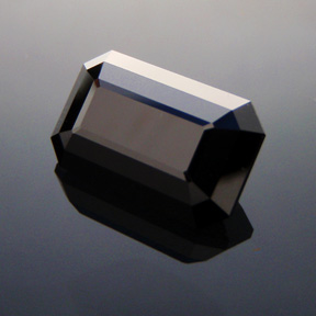 Black Spinel, Rubyvale, Central Queensland, Emerald Cut, #321