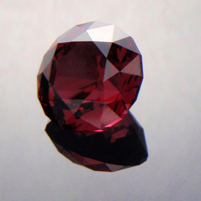 Rhodolite Garnet, Antique Round 1910, #327 - Doug Menadue :: Bespoke Gems - Master gemcutter and lapidary artist specialising in fine custom cut precision gems from a wide range of select facet gem rough. Located in Sydney, Australia.