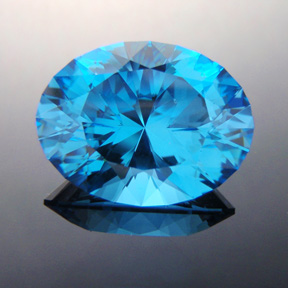 Electric Blue Topaz, Ten Main Oval, Brazil, #332